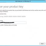 Neue Features hinzufügen? Einfach Key eingeben.